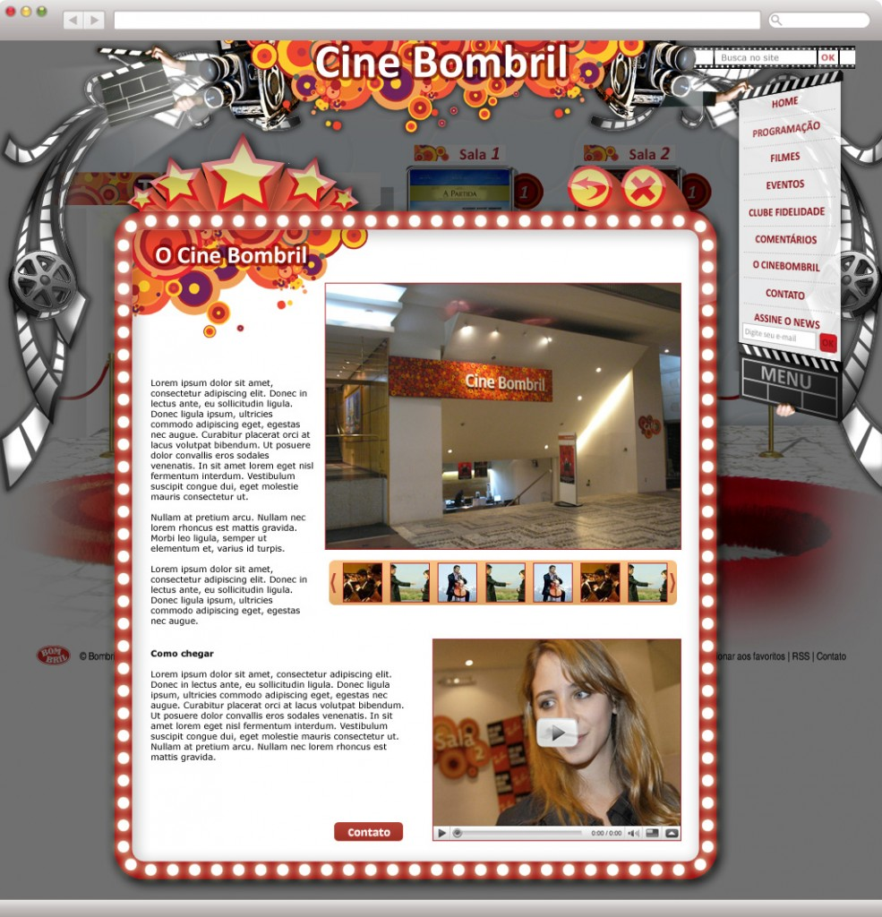 "CineBombril - Interna ""Sobre o Cine"""