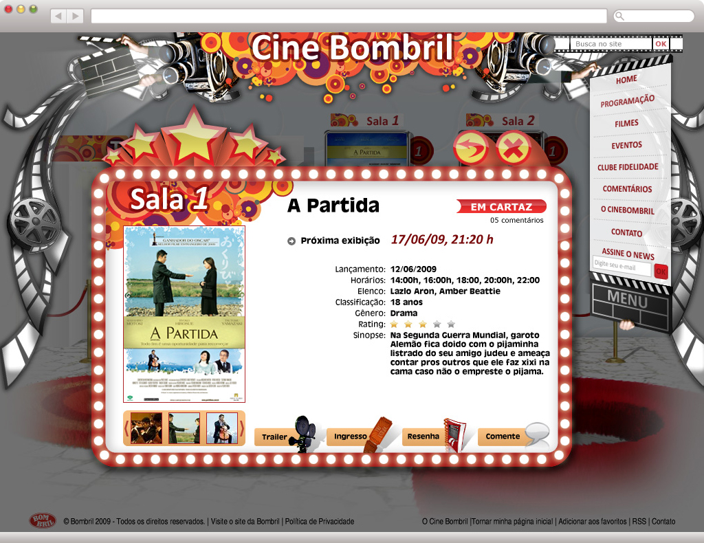 "Cine Bombril - Interna ""Sobre o Filme"""