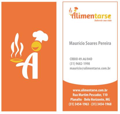 Cartão de Visitas Alimentarse by Danilo Aroeira
