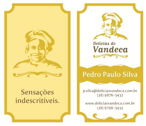 Cartão de Visitas Delícias do Vandeca by Danilo Aroeira