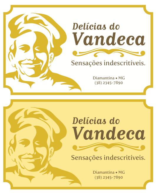 Rótulo - Delícias do Vandeca by Danilo Aroeira