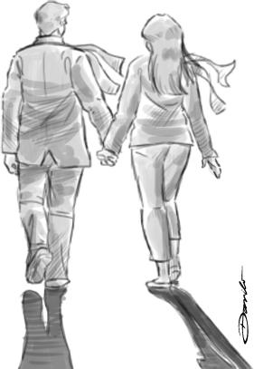 Casal de mãos dadas - by Danilo Aroeira