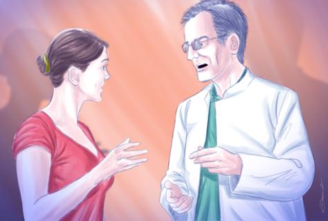 Conversa com paciente - by Danilo Aroeira