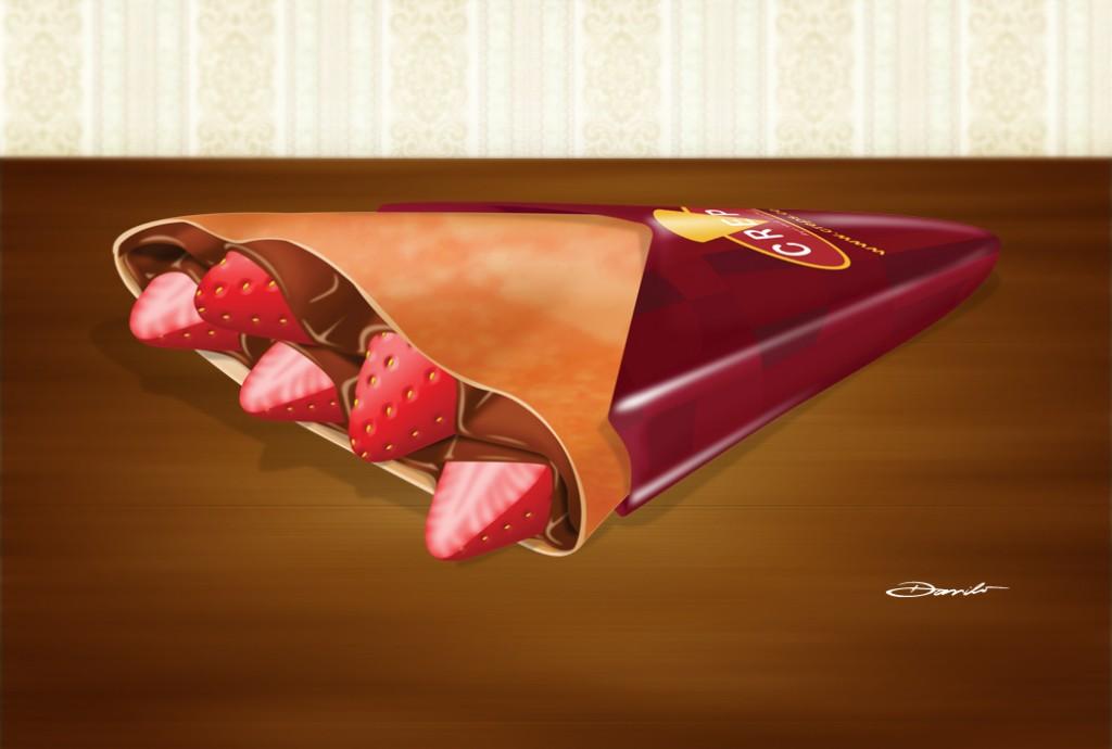 Crepe de corango com chocolate, by Danilo Aroeira