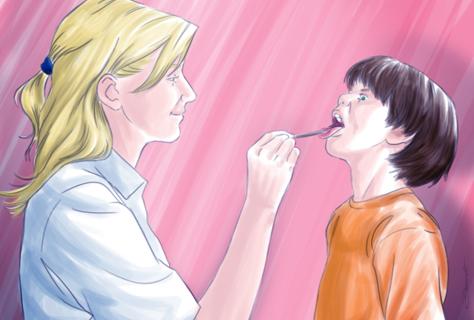 Exame de garganta - by Danilo Aroeira