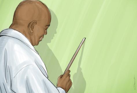 Médico explica no quadro negro - by Danilo Aroeira