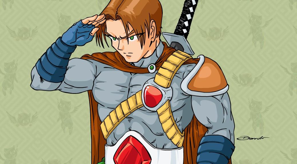 Guerreiro em estilo anime - by Danilo Aroeira