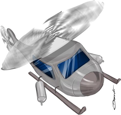 Helicóptero (estudo) - by Danilo Aroeira