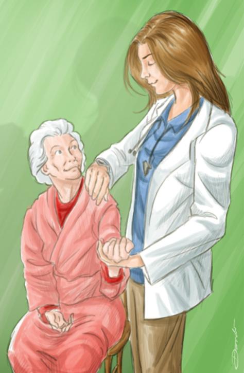 Doutora mede a pressão de paciente - by Danilo Aroeira