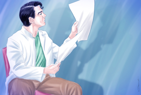 Médico observa os resultados de exame - by Danilo Aroeira