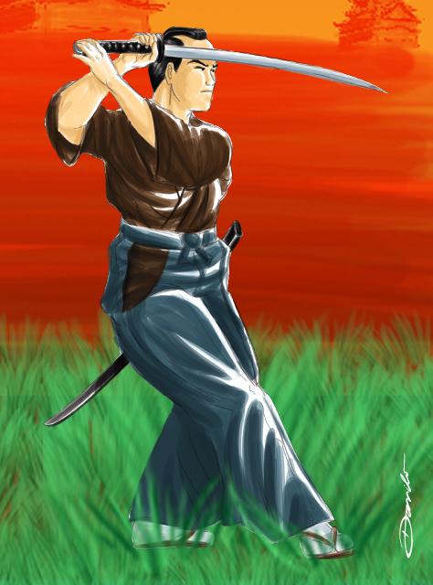 Samurai espada em punho - by Danilo Aroeira