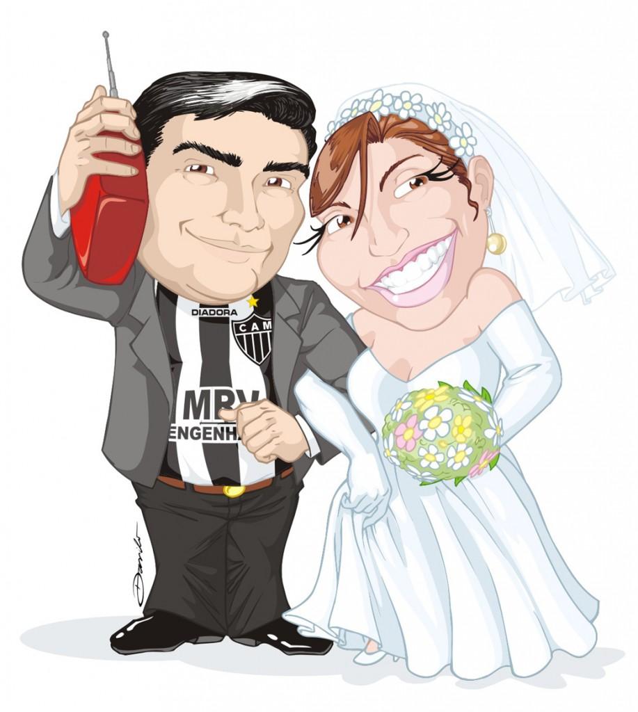 Vanessa e Vinícius - caricatura by Danilo Aroeira