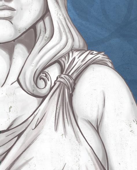 Ilustração [detalhe - Justiça] - Revista  Mediação - by Danilo Aroeira