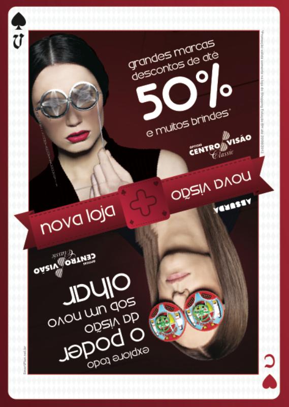 Campanha Nova Loja Centro Visão - Flyer (frente) by Danilo Aroeira