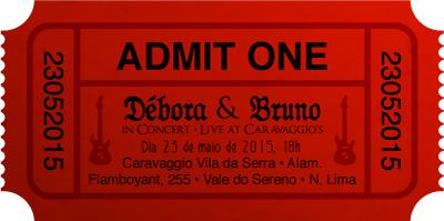 "Convitinho Débora e Bruno - ""Admit One"", by Danilo Aroeira"