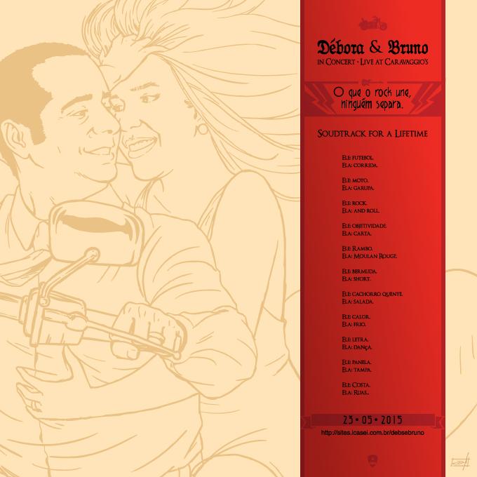 Verso capa vinil Débora e Bruno by Danilo Aroeira