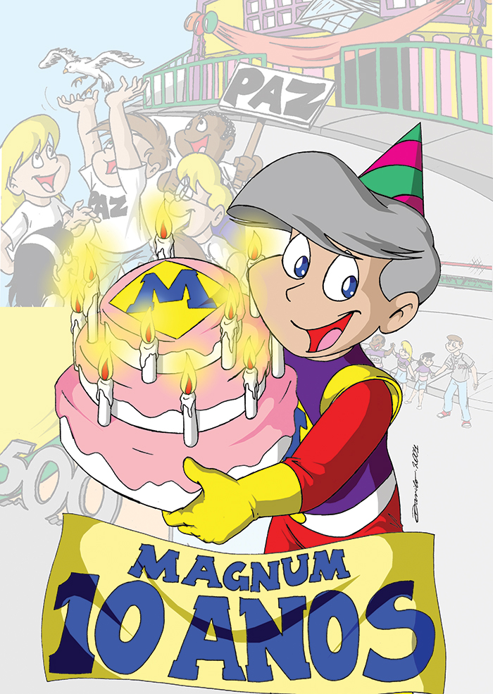 Magnito 10 anos - capa by Dan Arrows