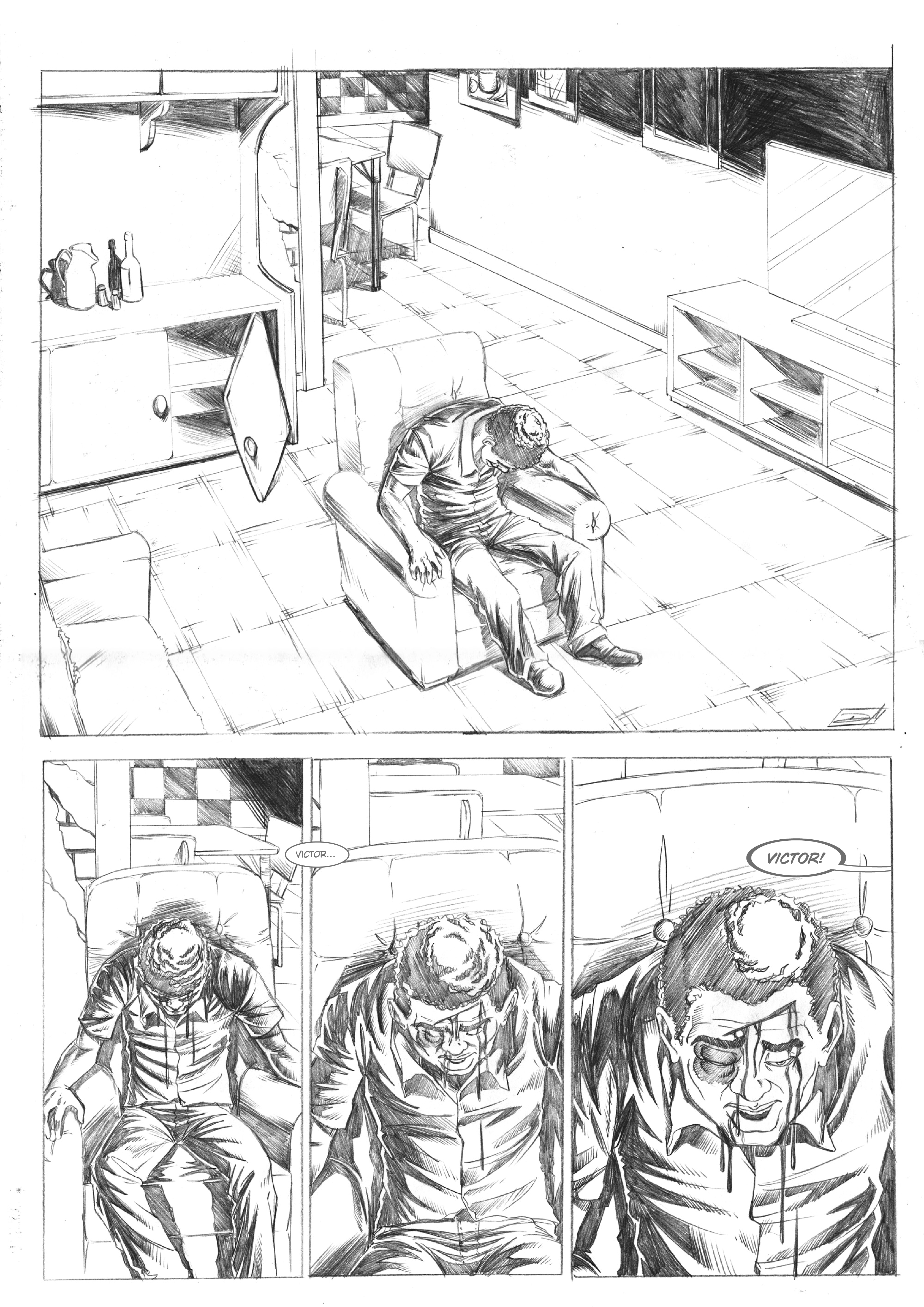 Nascido Morto - p.1 - Alex Moletta. Art by Dan Arrows