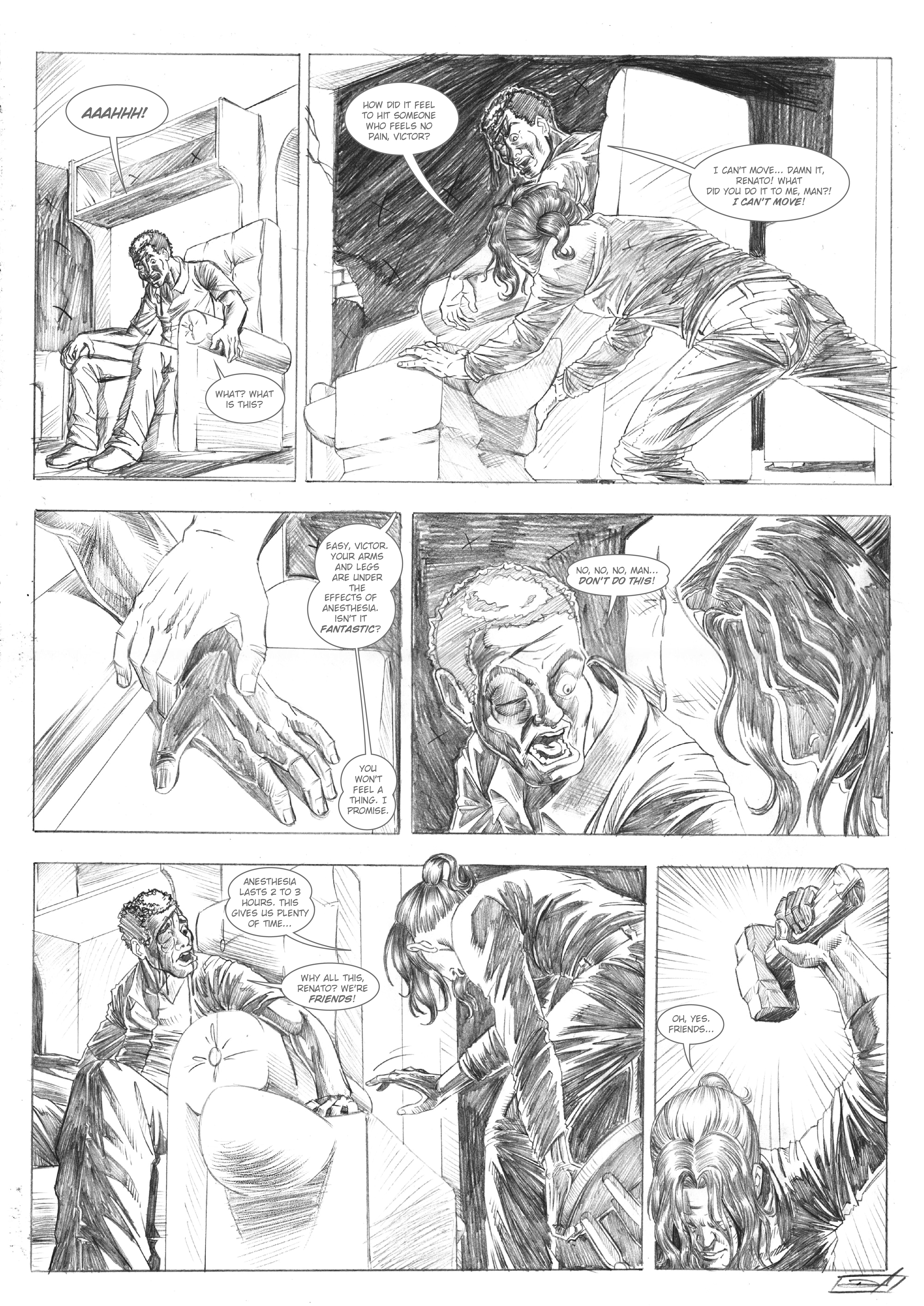 Nascido Morto - p.2 - Alex Moletta. Art by Dan Arrows